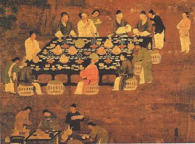 painting ancient meal