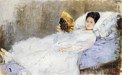 Acupuncture and heat_berthe_morisot_woman with a fan